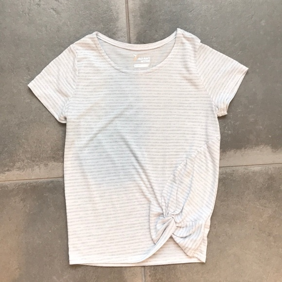 dcb33a7e Old Navy Shirts & Tops | White And Gray Striped Active Shirt | Poshmark